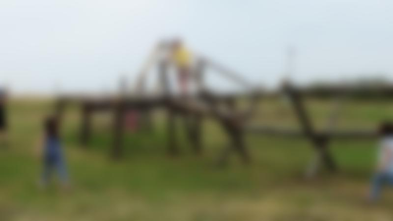 Kids on playground at Thurrock Thameside Nature Park in Stanford-le-Hope