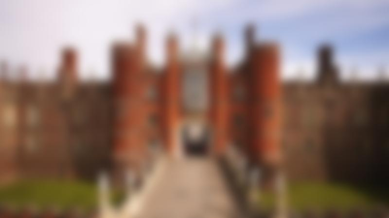 Outside view of Hampton Court Palace in East Molesey