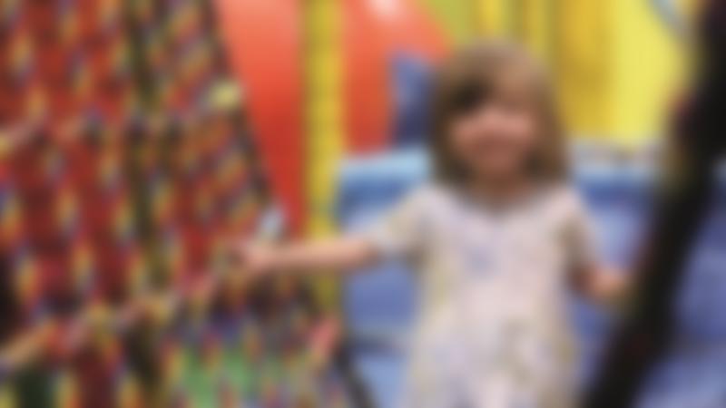 Girl on soft play bridge at Washington Leisure Centre