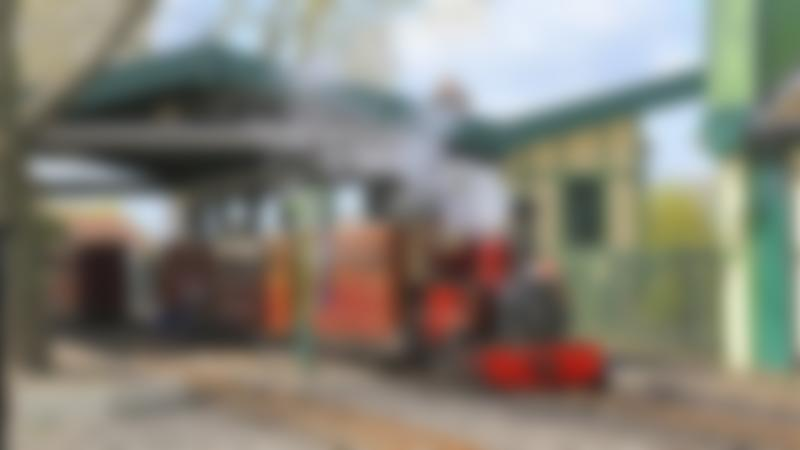 Train at Evesham Vale Light Railway