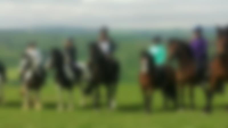 Horse riders at Springhill Farm Riding Stables in Oswestry