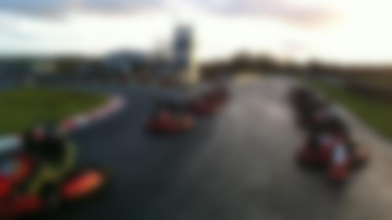 Kids on go karts at Nutts Corner Circuit in Belfast