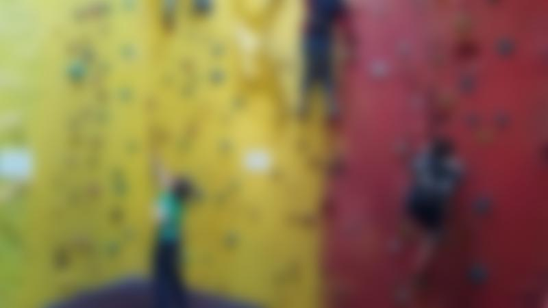 Kids climbing at The Warehouse Climbing Centre in Gloucester