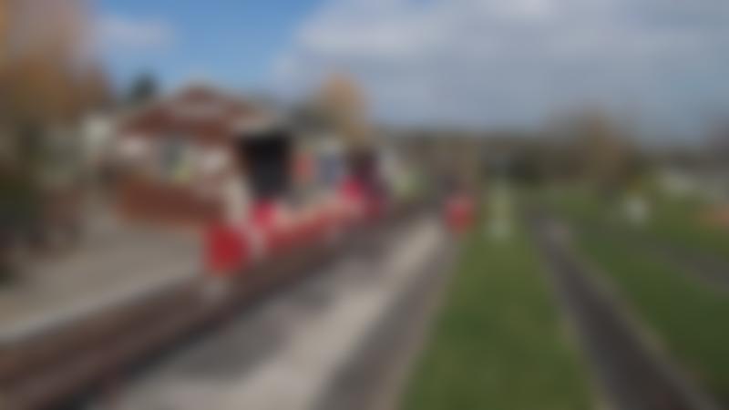 Miniature train at Avonvale MES Miniature Railway in Alcester