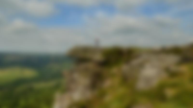 Person on peak at Eastern Moors in Sheffield