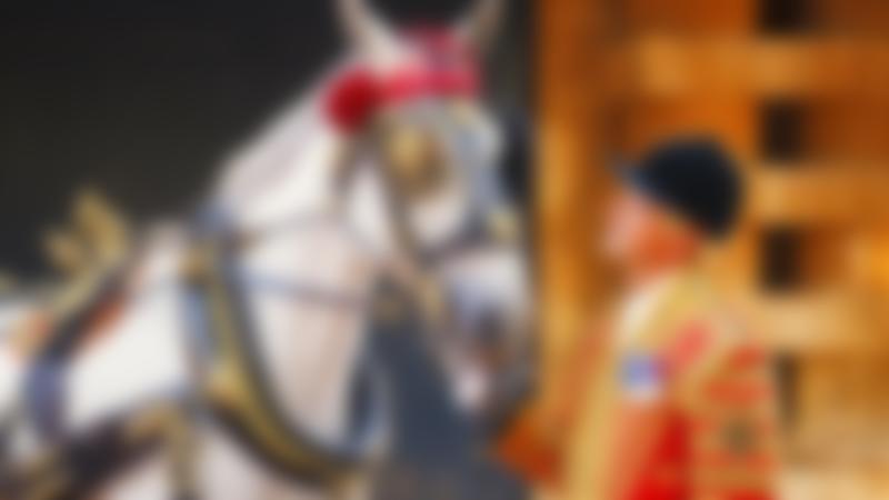 Royal Mews at Buckingham Palace in London