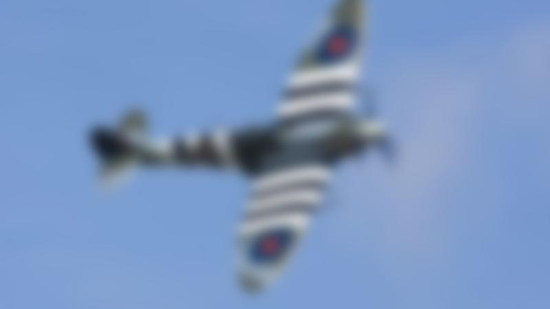 Aircraft flying at Battle of Britain Memorial Flight Centre in Coningsby