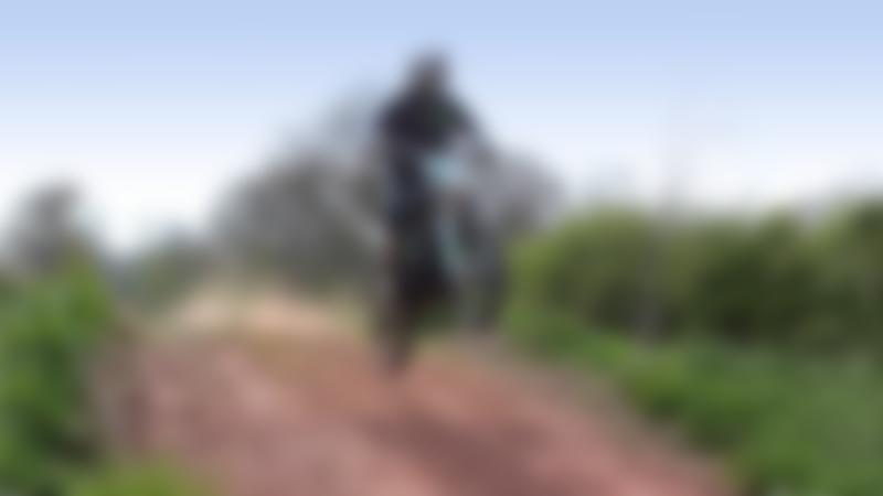 Motorcycle rider at E-Scape in Preston Brook