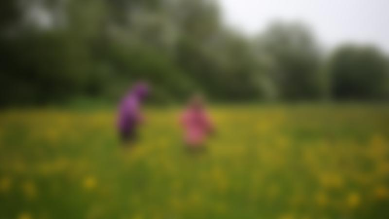 Girls in field at Rutland Water Nature Reserve in Oakham