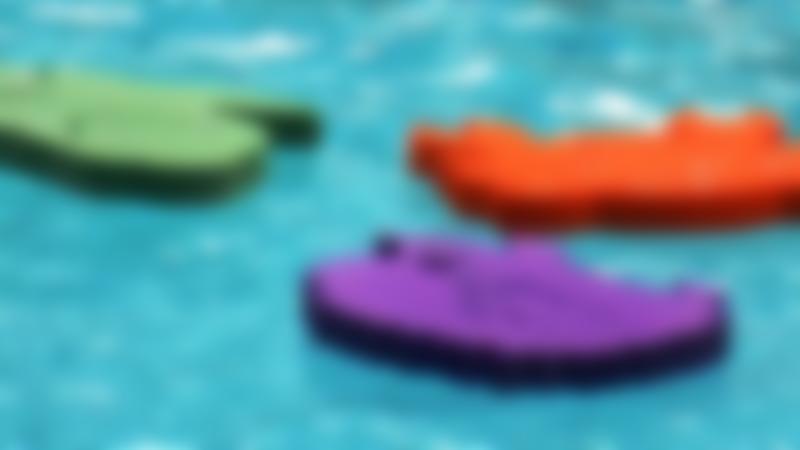 Foam pads on water at Splash Leisure Pool in Stockton-on-Tees