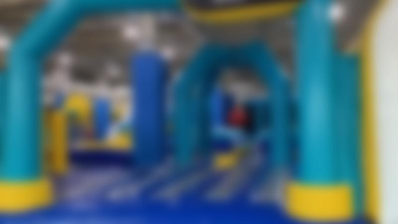 Inflatable park at Funzy in Bradford