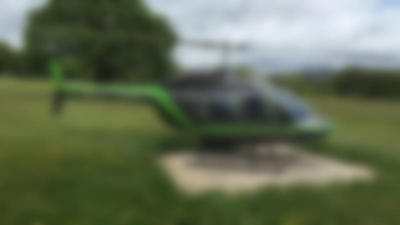 Bell JetRanger helicopter at Pleasure Flights in Caernarfon
