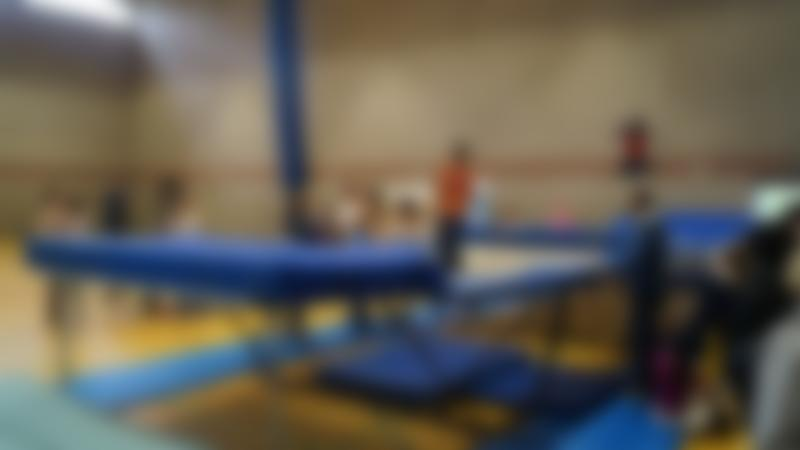Kids on trampolines at Newburn Activity Centre in Newcastle Upon Tyne