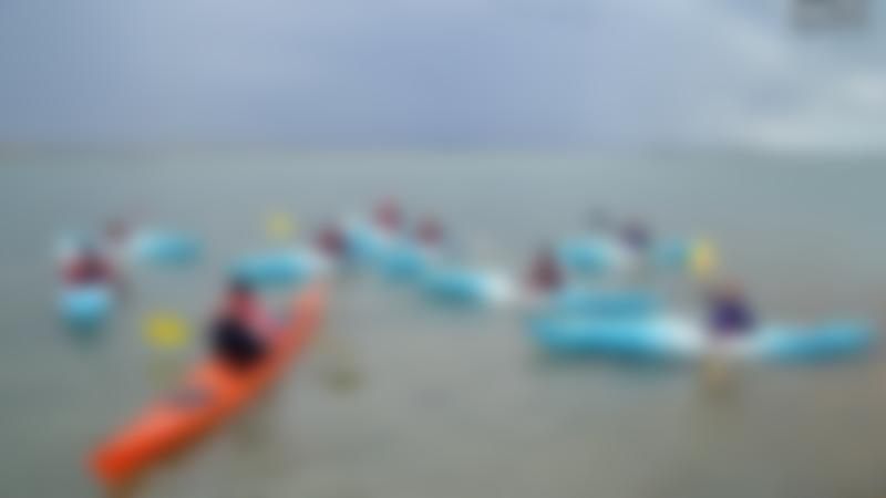 Kids kayaking at Portsmouth Watersports Centre