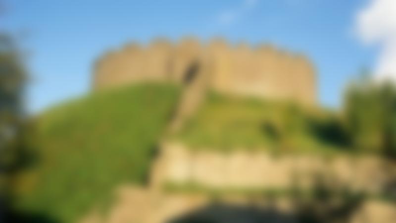 Outside view of Totnes Castle