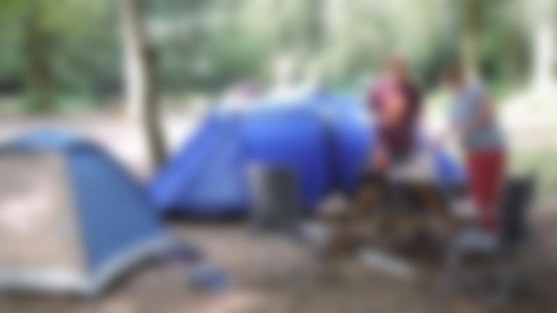Families camping at Umberslade Adventure in Hockley Heath