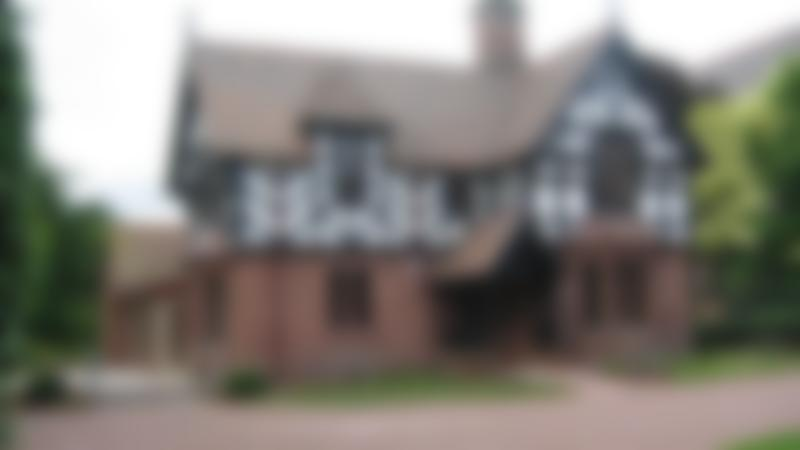 Tudor house at Grosvenor Park Miniature Railway in Chester
