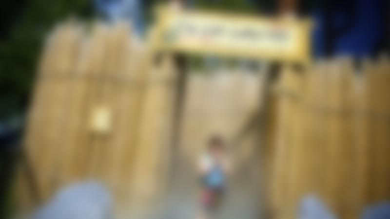 Boy at The Lost Labyrinth at Landmark Forest Theme Park in Carrbridge