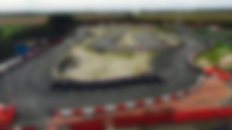 Race track at Chequered Flag Karting in Grimsby