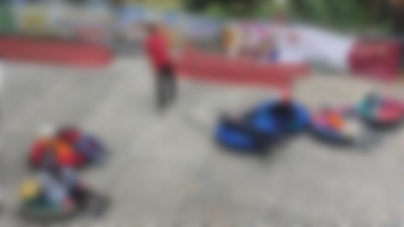 Kids sledging and mini ringo at Sandown Ski Centre in Esher
