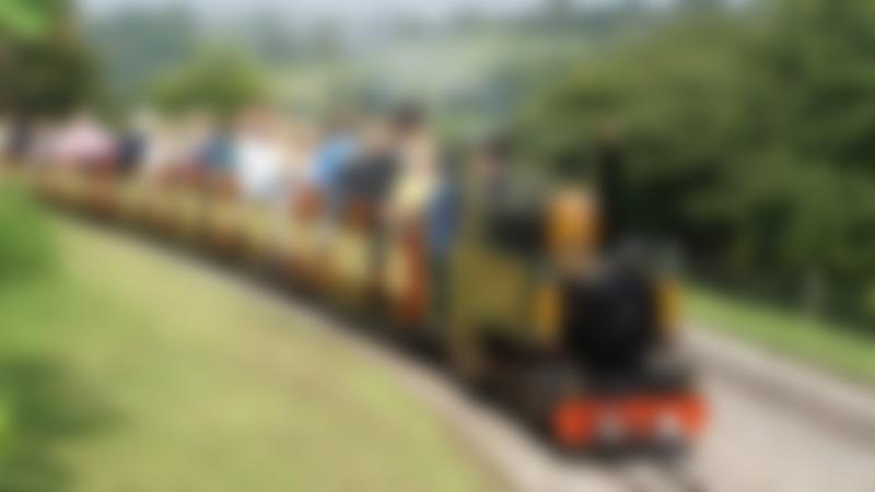 Passenger Train at Beer Heights Light Railway in Seaton