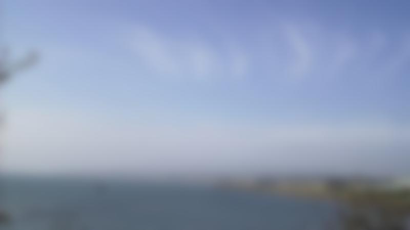 Sea at Ravenscraig Park in Kirkcaldy