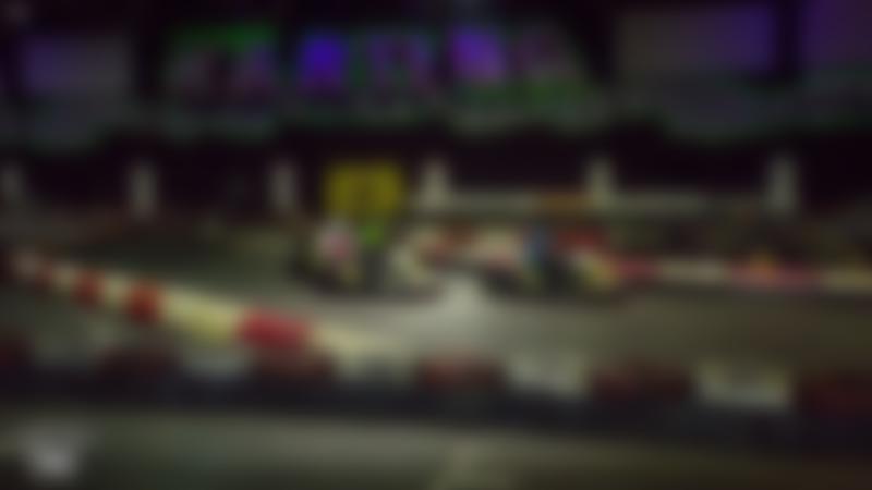 Kids go kart racing at Swindon Karting Arena