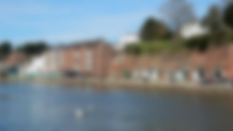 Exeter's ship canal on Curious About Exeter trail