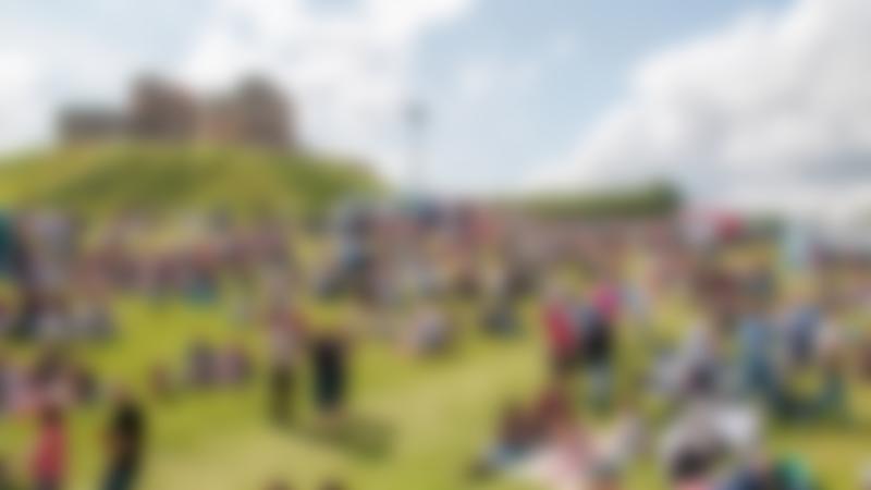 Families outside Stafford Castle