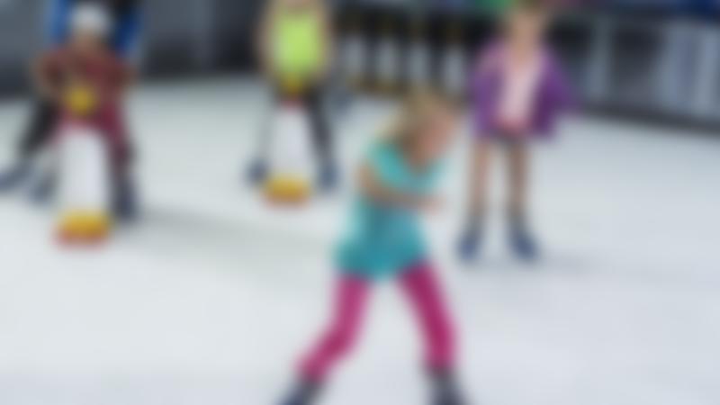 Kids ice skating at Planet Ice Milton Keynes