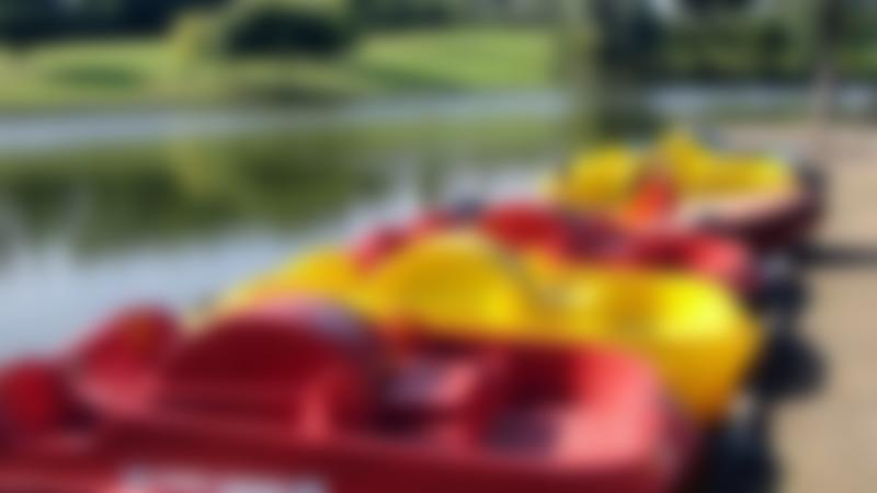 Boats at Hemsworth Water Park and Playworld in Pontefract