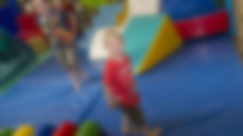 Kids playing in soft play area at Newbridge Farm Park in Ledbury