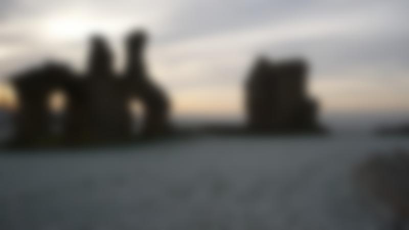 Ruins of Sandal Castle in Wakefield