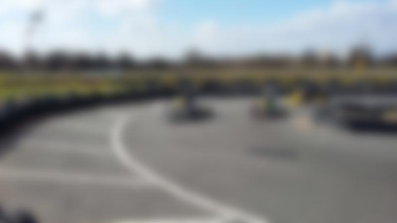 Kids racing at Nottingham Raceway Karting in Melton Mowbray
