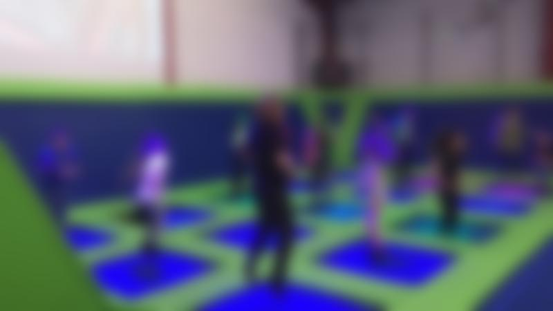 Kids jumping on trampolines at Adrenaline International Limited