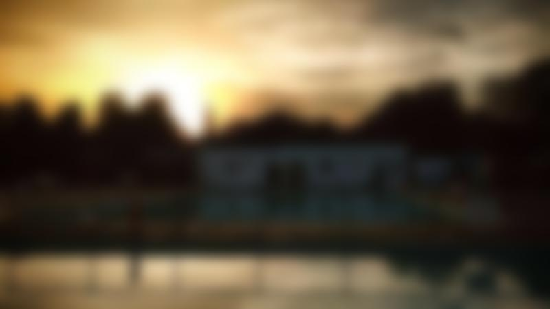 Sunset at Cirencester Open Air Swimming Pool