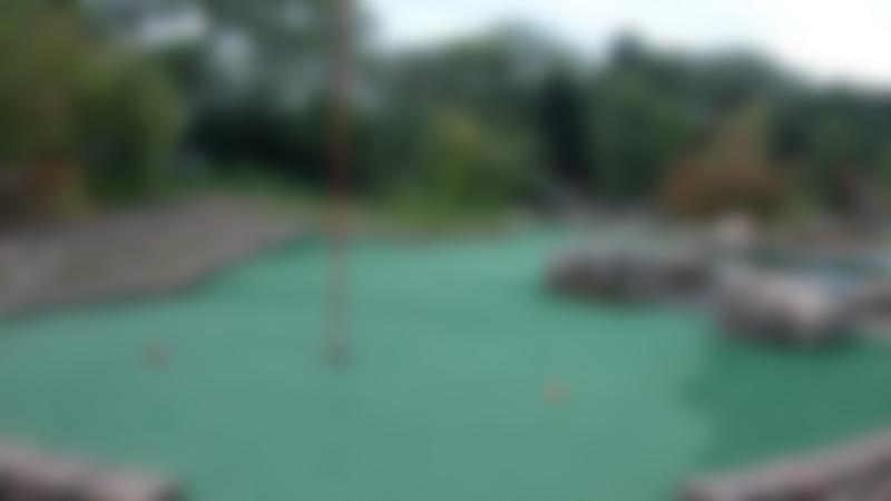 Golf hole at Parklands Mini Golf in Newcastle upon Tyne