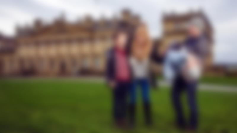 Family at Harewood House in Leeds