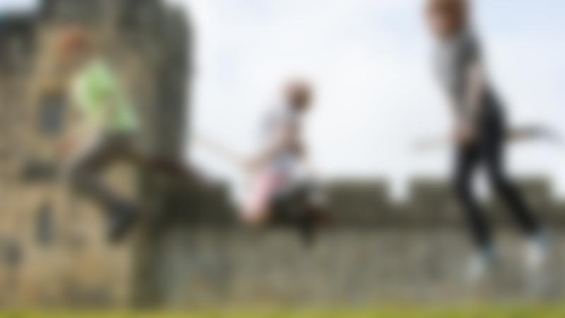 Kids on broomsticks at Alnwick Castle