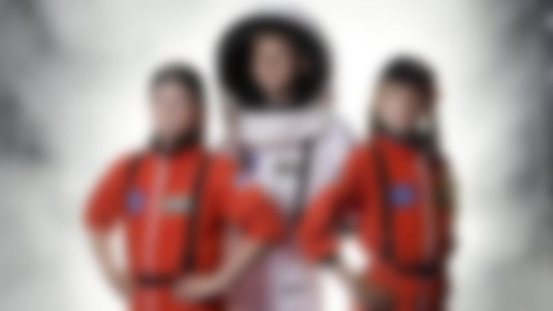 Kids dressed as astronauts at National Space Centre in Leicester