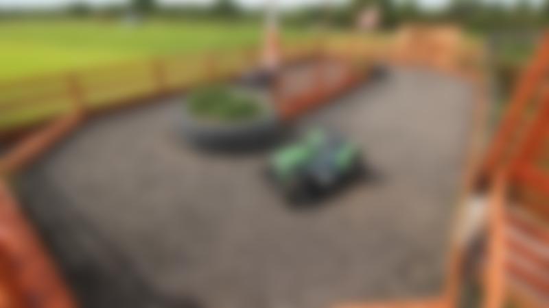 Mini tractor racing track at Eshottheugh Animal Park in Morpeth