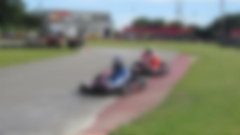 People go kart racing at Karttrak Cromer