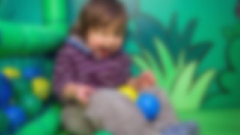 Toddler playing at Amazona Zoo in Cromer