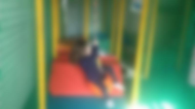 Girl in soft play area at Paradise Found Educational Farm Park in Sapcote