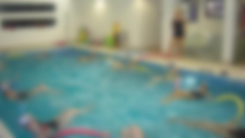 Water aerobics class at Splash at Riverside in Blackburn