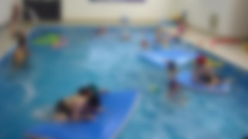 Kids in swimming pool at Splash at Riverside in Blackburn