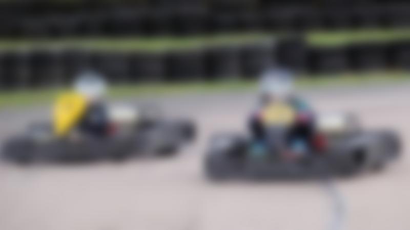 Kids go kart racing at Bayford Meadows in Sittingbourne