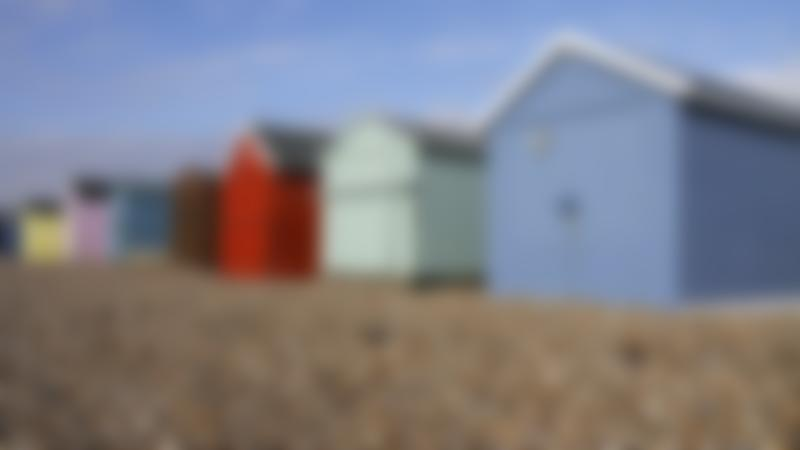 Beach huts at Hayling Island Beach