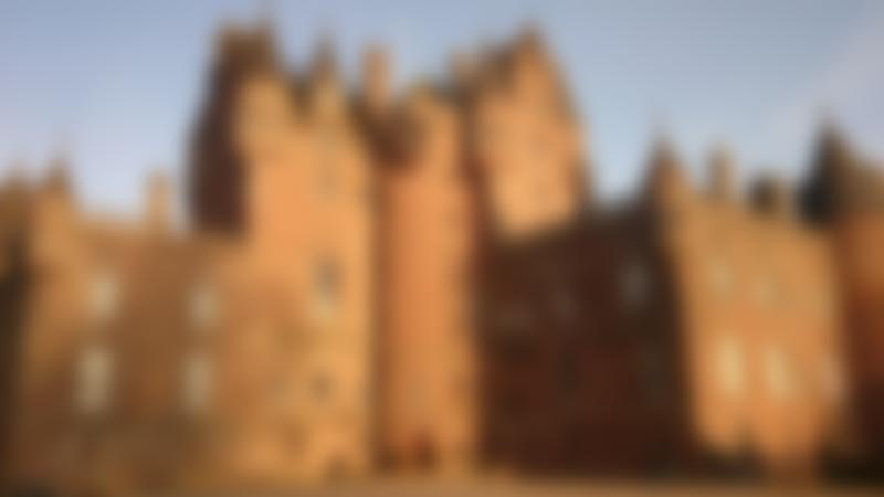 Outside view of Glamis Castle in Forfar