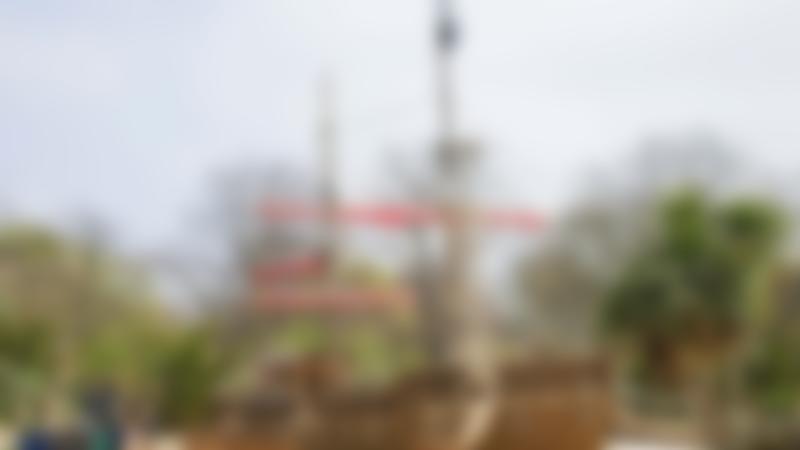 Pirate ship at Princess Diana Memorial Playground in Kensington